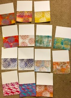 I printed on my Gelli Plate some greeting cards the other day, and it took me quite a few tries to figure out how to get coverage all the w...