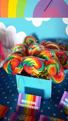 Rainbow Lollipops 1st Birthday Parties, 2nd Birthday, Cloud Party, Rainbow Lollipops, Party Planning, Word 3, Party Time, Sprinkles, Kara