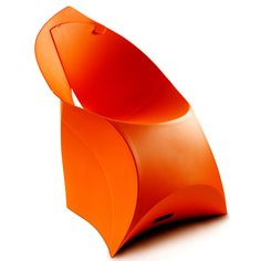 Chaise de jardin en résine design #orange #jardin #furniture
