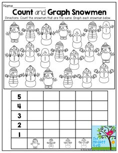 Count and Graph Snowmen! TONS of great printables!