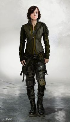 Ellen Page - Concept art of alternate costumes of Kitty Pryde in X-Men: Days of Future Past.