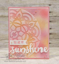 Isn't that background stunning? Learn the Embossing Paste overlay technique. Stampin' Up!, card, paper, craft, scrapbook, rubber stamp, hobby, how to, DIY, handmade, Live with Lisa, Lisa's Stamp Studio, Lisa Curcio, www.lisasstampstudio.com