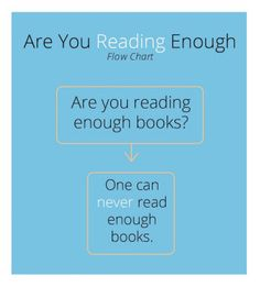 [ I ] ᙖᎧᎧҠᎦ [ I ] ~   Are you reading enough?  Flowchart