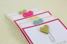Homemade Valentine Cards: Stitched Heart Bookmarks (Ella)
