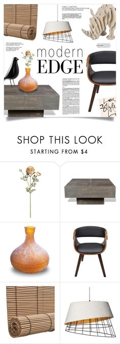 """Modern Edge"" by mahafromkailash ❤ liked on Polyvore featuring interior, interiors, interior design, home, home decor, interior decorating, modern and contemporary"