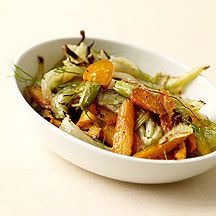 This is a great side for a holiday meal, roasted fennel & carrots