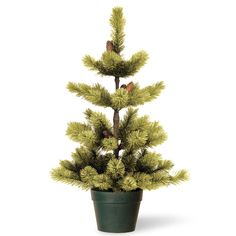 3ft Woodland Carolina Pine Potted Artificial Christmas Tree