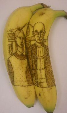 How to Make Banana Oxidation Art/ How to Tattoo a Bananaby DIYHacksAndHowTos