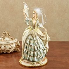 Sunny Afternoon Lady Figurine Blue