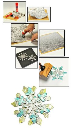 Use aluminum foil and alcohol ink   http://www.sizzix.co.uk/blogs?utm_source=facebook_medium=links_campaign=social%2Bnetworking#  Blogs | Sizzix.co.uk