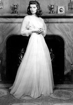 "Katherine Hepburn in ""The Philadelphia Story"" a movie featuring amazing fashion!"