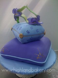 Iris Shoe Cake by Karen Portaleo. I totally love this impossibly beautiful, imaginative and magical cake. Could have been made for me!