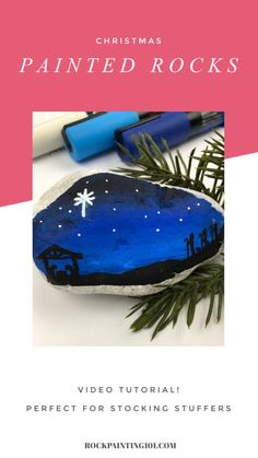 Create a beautiful nativity scene on your painted rocks with this step by step tutorial. This Christmas rock painting idea is perfect for stocking stuffers, Christmas decor, or hiding this season. Rock Painting Patterns, Rock Painting Ideas Easy, Rock Painting Designs, Painting For Kids, Paint Ideas, Christmas Rock, Christmas Nativity, Christmas Crafts, Nativity Crafts