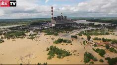 Floods threaten the Tesla Power Plant. Photo: Blic TV