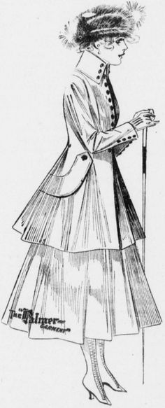 The latest in fall suits for women advertised in the August 25, 1916 Pullman Herald.