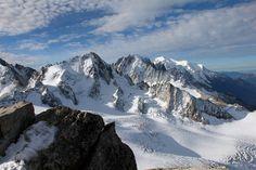 Le massif du Mont-Blanc vu du sommet de l'aiguille du Tour