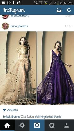 purple one is officially on my wish list! My Wish List, Ball Gowns, All Things, Bridal, Formal Dresses, Purple, Instagram, Fashion, Fitted Prom Dresses