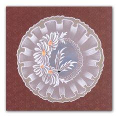 Claritystamp Groovi Plates - Frilly Circles - Claritystamp from Crafter's Companion UK Brush Embroidery, Silk Ribbon Embroidery, Clarity Card, Vellum Crafts, Parchment Design, Acetate Cards, Lace Painting, Parchment Cards, Handmade Stamps