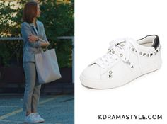 """Yoon So Ah's White Studded Sneakers - Ash Play Studded Sneakers. Shin Se Kyung 신세경 as Yoon So Ah 소아 in """"Bride of the Water God 2017"""" Episode 7."""