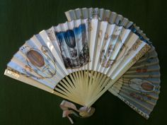 Make an Century Style Hand Fan: 5 Steps (with Pictures) Hand Held Fan, Hand Fans, Fan Decoration, Antique Vanity, Diy Fan, Paper Fans, General Crafts, Crafts To Do, Paper Crafts