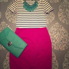 "Fuschia H&M skirt Adorable pencil skirt. Never been worn. Comes 2"" above top of knee H&M Skirts Pencil"