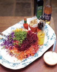 Shredded Rainbow Salad Recipe