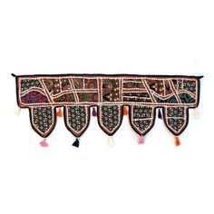Handmade Window Door Valance Home Decor Decorative Embroidered Patchwork Toran Pelmet Topper Drapery Top Hanging Tent Decoration Art C367