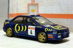 Scalextric Tecnitoys-Altaya. Subaru Impreza. RAC Rally 1995. Colin McRae-Derek Ringer. #slotcar Colin Mcrae, Subaru Impreza, Slot Cars, Rally, Racing, Collection, Ideas, Cars, Slot Car Tracks