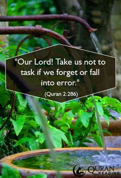 """Our Lord! Take us not to task if we forget or fall into error."" (Quran 2:286) #Pray"