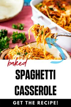 If you love meals that leave the whole family happy, you are going to love this Baked Spaghetti Casserole.  This healthy gluten free recipe is so ridiculously full of flavor. I am so happy that I found this deliciously easy meal.  #lglutenfree #glutenfreecasserole #healthcasserole Gluten Free Recipes For Breakfast, Healthy Gluten Free Recipes, Gluten Free Dinner, Healthy Pasta Recipes, Healthy Pastas, Dinner Recipes, Baked Spaghetti With Ricotta, Baked Spaghetti Casserole, Easy Family Dinners