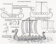 How to Draw a Viking Ship, a lesson for the Young Artist.