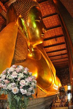 I've been to: the Temple of the Reclining Buddha, Wat Pho. Bangkok, Thailand.
