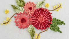 Embroidery Flower by