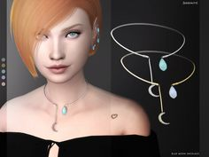 "serenity-cc: "" BLUE MOON NECKLACE - 6 colors; - HQ compatible; - Custom Thumbnail LOD0: 1K LOD1: 1K LOD2: 354 LOD3: 260 DOWNLOAD AT MY NEW WEBSITE :) """