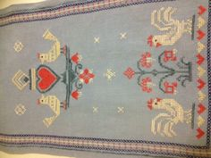Swedish cross stitched table runner