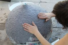 How to Make A Lamp from a Balloon and Paper Mache