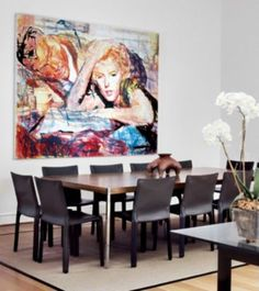 Contemporary Brown Dining Room | Contemporary > Dining Rooms | LUXE Source