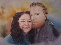 Pastel Portraits, Einstein, Mona Lisa, Couple Photos, Couples, Portrait Paintings, Artwork, Couple Shots, Work Of Art