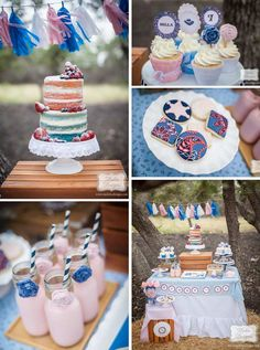 Rustic Cowgirl themed birthday party with Lots of Really Cute Ideas via Kara's Party Ideas KarasPartyIdeas.com #cowgirlparty #westernparty #...