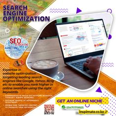 We have more than the necessary expertise in website optimization targeting the leading search engines like Google, Yahoo and Bing etc to enable you rank higher in online searches using the right keywords. than your competitors.  All our Search Engine Optimization (SEO) activities focuses on ensuring that your website ranks high in organic searches.  #inspimate #webdesign #ecommerce #responsive #cms #seo  For the best Search Engine Optimization (SEO):-  📧 mail@inspimate.co.ke 📲…