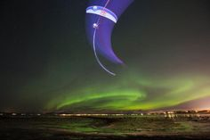 Horacio Llorens Performing During the Aurora Borealis in Tromso, Norway. Tromso, Red Bull, Ski, Visit Norway, Paragliding, Beautiful Places In The World, Travel And Tourism, Sport, Northern Lights