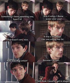 Ha  #merlin #arthur #BBC #magic #myth #camelot #once #and #future #king #colin #morgan #bradley #james