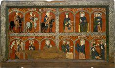 13th cent altar front from the church of Santa Maria de Mosoll, Das, Baixa Cedanya, Spain,MNC
