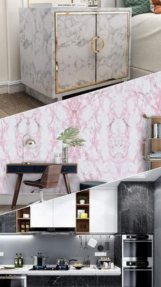 Marble Sticker, Love Your Home, Home Decor Inspiration, Design Inspiration, Home Hacks, Home Decor Bedroom, Contact Paper, Home Projects, Decoration