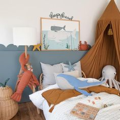 Shop our beautiful range of nursery wall art and prints for kids bedrooms. We have an extensive collection of animal safari decor perfect for jungle themed rooms, Hello Little One Giraffe prints and inspirational quote art. Sea Nursery, Nursery Decor, Room Decor, Nursery Prints, Nursery Art, Ideas Habitaciones, Baby Whale, Art Wall Kids, Wall Art