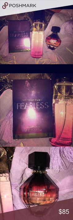 Fearless by Victoria's Secret bundle This Fearless by Victoria's Secret bundle includes two items: A 1.7 OZ bottle of Fearless perfume and an 8.4 OZ bottle of Fearless fragrance mist. Both are brand new with tags/original box. Offers are welcome 🙂 Victoria's Secret Accessories