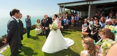 A windy weather ceremony option. (Natasha & Andy by Paul Howell photography)