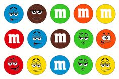M&M Bottle Cap Images, Candies, Faces, Hair bow supplies, hairbow supplies, buttons, pin back buttons, pins, shoelace charms, zipper charms by LucysButtonBoutique on Etsy