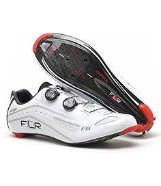 FLR Herren f-xx Full Carbon Sohle Road Fahrradschuhe Weiß gloss white UK 8 / EU 42 - http://on-line-kaufen.de/flr/flr-herren-f-xx-full-carbon-sohle-road-weiss-gloss-8