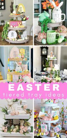 Easter Gift, Easter Crafts, Easter Food, Easter Desserts, Easter Ideas, Tier Tray, Diy Easter Decorations, Table Decorations, Easter Celebration